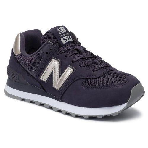 Sneakersy - wl574wnm fioletowy marki New balance