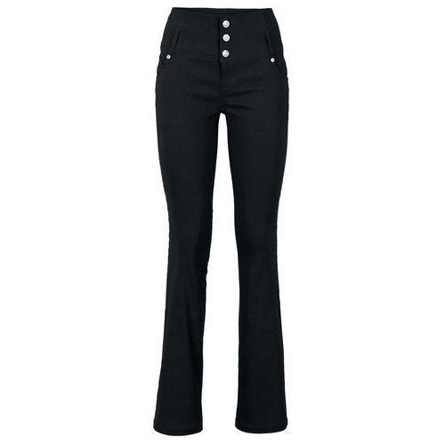 Spodnie z bengaliny ze stretchem bonprix czarny, kolor czarny