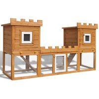 vidaXL Duża klatka dla królików/domek zwierząt, konstrukcja 2-piętrowa (8718475882770)