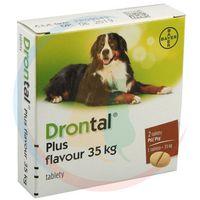 DRONTAL Tabletki Odrobaczające Dla Psa Dużych Ras 2szt