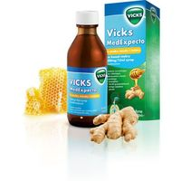 VICKS MedExpecto Smak miodowo-imbirowy syrop na kaszel mokry 180ml