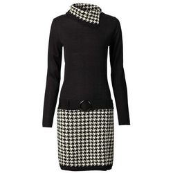 3f478555fb bonprix. Sukienka dzianinowa bonprix czarno-kremowy. 89.99 zł