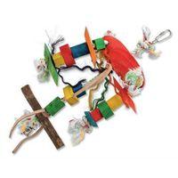 Toy ptaków statyw drewno / liny 30x4x23cm marki (bez zařazení)