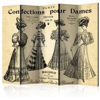Parawan do mieszkania 5-częściowy - Confections pour Dames II 225 szer. 172 wys.
