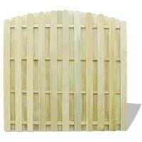 Vidaxl impregnowany panel ogrodzeniowy, drewniany, zaokrąglony