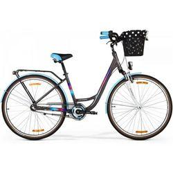 Rower MERIDA Cityway 328 2016 brązowy-fioletowy-niebieski / Rozmiar ramy: 15,5