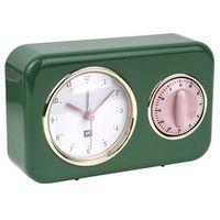Zegar stojący nostalgia green z timerem kuchennym by marki Pt,