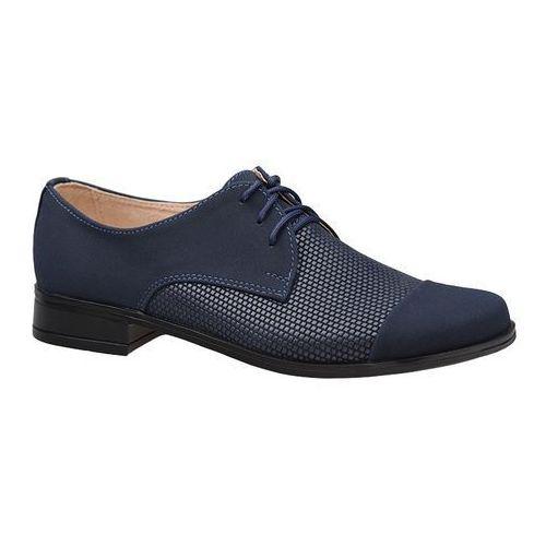 9c46f884 Półbuty buty komunijne wizytowe KMK 158 Granatowe AN-K - Granatowy  ||Niebieski