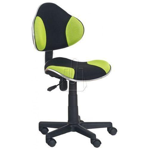 Halmar Fotel młodzieżowy flash czarno-zielony