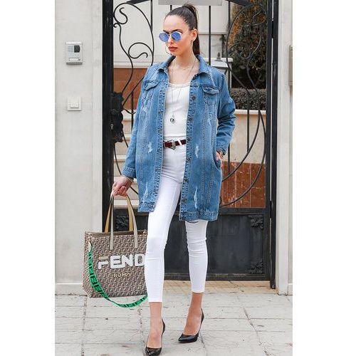 Kurtka jeansowa KENLEY, kolor chabrowy