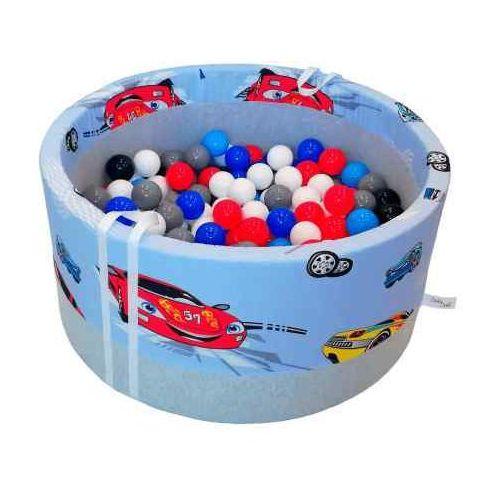 Suchy basen z piłeczkami dla dzieci BabyBall autka, BB-0019