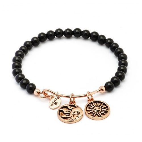Biżuteria Chrysalis Bransoletka Tranquility Strength Black CRBH0105RG, kolor czarny