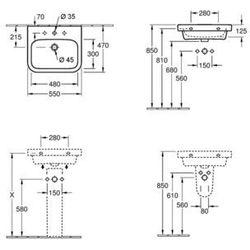 Villeroy & Boch Architectura 550 x 470 mm