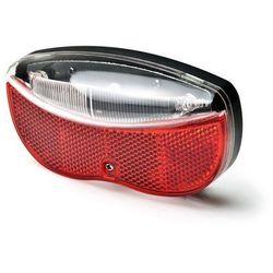 Lampka rowerowa na bagażnik 3xLED 2xAA (w zestawie) z odblakiem czerwono-biała L-FE-3TL MACTRONIC