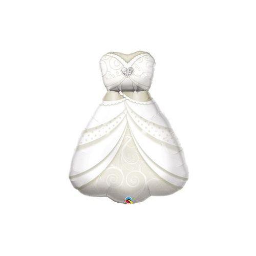 Balon foliowy suknia ślubna - 97 cm - 1 szt. marki Qualatex