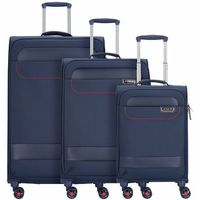 March15 Trading Tourer 3-częściowy komplet walizek na 4 kółkach navy / red ZAPISZ SIĘ DO NASZEGO NEWSLETTERA, A OTRZYMASZ VOUCHER Z 15% ZNIŻKĄ