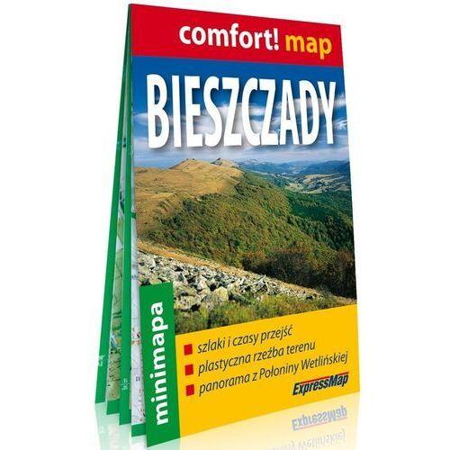 Bieszczady laminowana mapa turystyczna mini 1:200 000 (2 str.)
