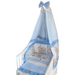 4 – częściowy zestaw pościeli do łóżeczka comfort niebieski marki Cosing