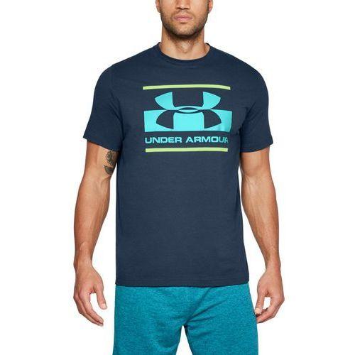 koszulka blocked sportstyle logo granatowa - granatowy marki Under armour