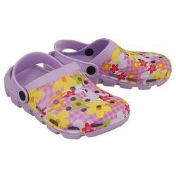 5kl7102 fioletowy, croksy klapki dziecięce, rozmiary: 30-35 - fioletowy marki Axim