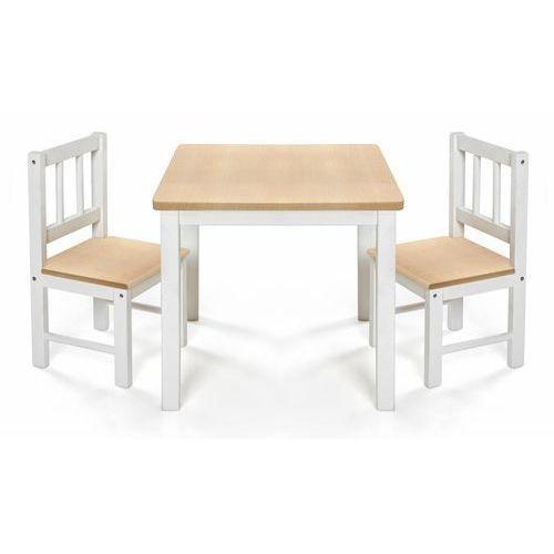 Stolik 2 Krzesełka Dzieci Drewniane Eatplay Reer