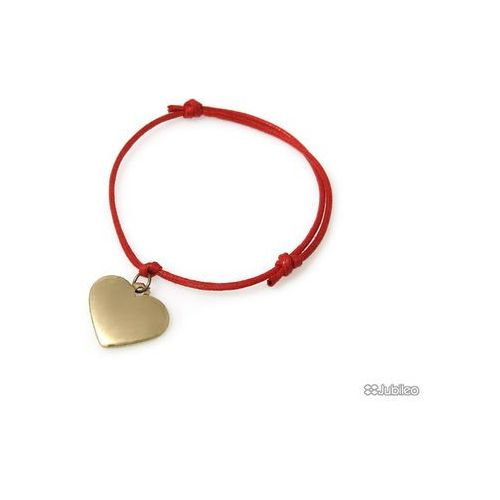 Bransoletka serce złote czerwona kolor złoty serduszko kolor czerwony glamour Jubileo.pl