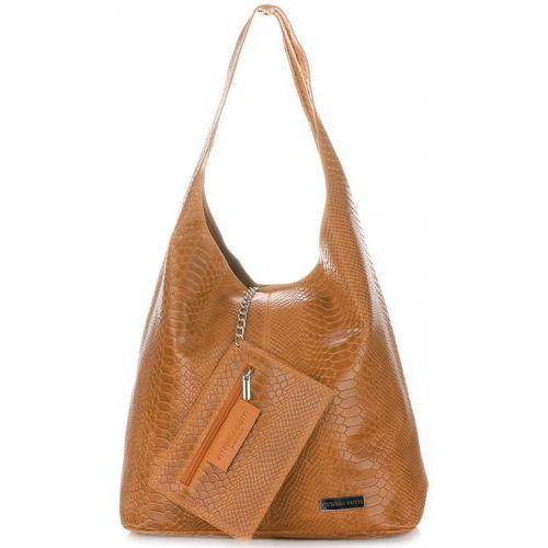 b7e2ad0864590 Firmowa torba skórzana we wzór aligatora włoskiej marki ruda (kolory) marki  Vittoria gotti
