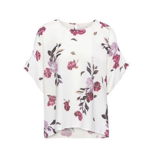 Bluzka z nadrukiem biel wełny w kwiaty, Bonprix, 36-54