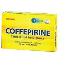 Tabletki Coffepirine Tabletki od bólu głowy 450mg + 50mg x 12 sztuk