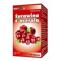 Żurawina z acerolą 60 tabletek- Sanbios