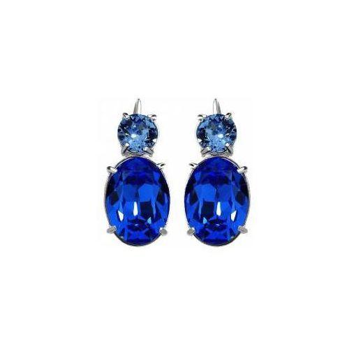 Swarovski kolczyki niebieskie sapphire srebro marki Arande