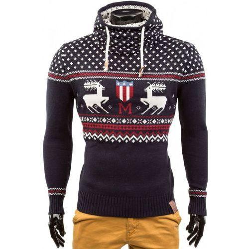 Sweter męski ALEX NAVY, kolor niebieski