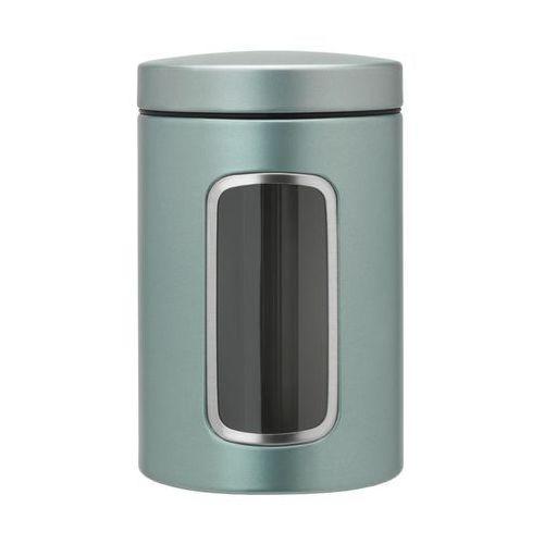 bd2a6ee0644df6 Pojemnik kuchenny Brabantia 1,4l z okienkiem metaliczny miętowy, kolor  zielony