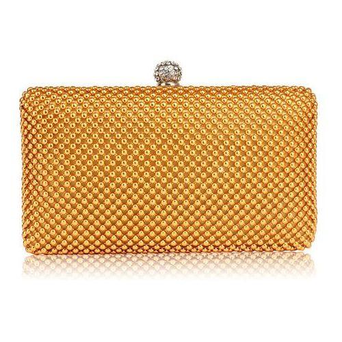 888c62c6b0919 Zobacz ofertę Wielka brytania Złota torebka wizytowa z drobnych koralików -  złoty