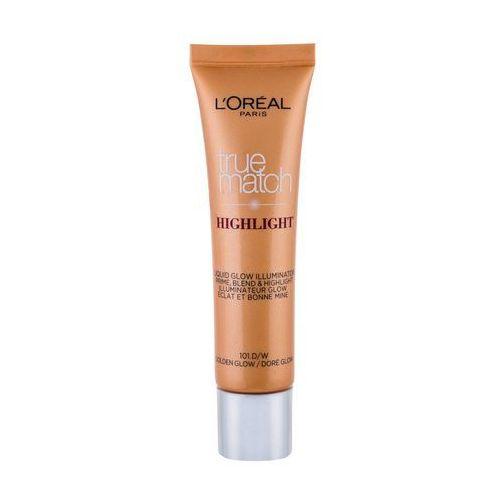 L´Oréal Paris True Match Highlight Liquid Glow rozświetlacz 30 ml dla kobiet 101.D/W Golden Glow, 95089 - Bardzo popularne