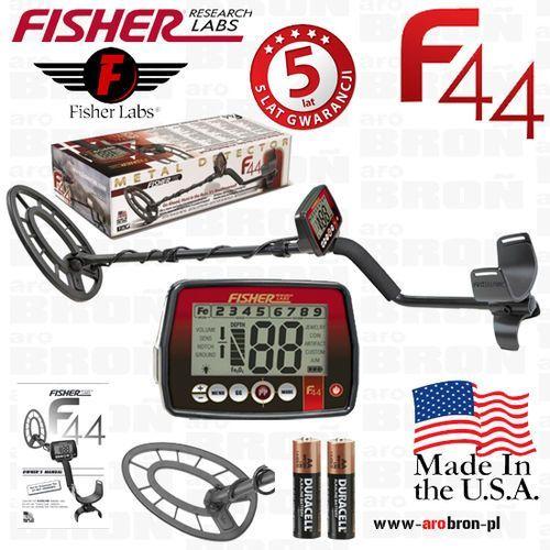 """Fisher research labs Wykrywacz metali fisher f44 cewka 11"""" - gwarancja: 5 lat - usa, następca f4, wodoodporny"""