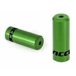 Końcówki pancerza Accent aluminiowe 4mm, przerzutkowe, 100szt. zielone - zielony \ 100