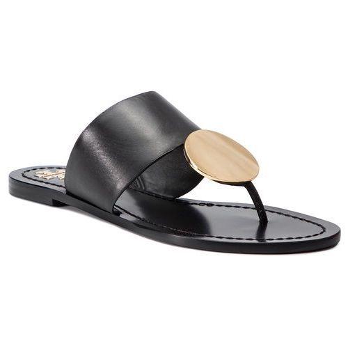 48f0512fa8447 Tory burch Japonki - patos disk sandal 46914 perfect black/ gold 013