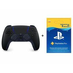 SONY DualSense kontroler czarny + Playstation Plus 90 dni