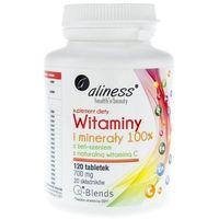 Witaminy i minerały 100%, 120 tabletek Aliness (5902596935337)