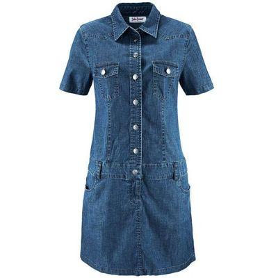 cf51a4febe suknie sukienki dluga sukienka dzinsowa bonprix ciemnoniebieski ...
