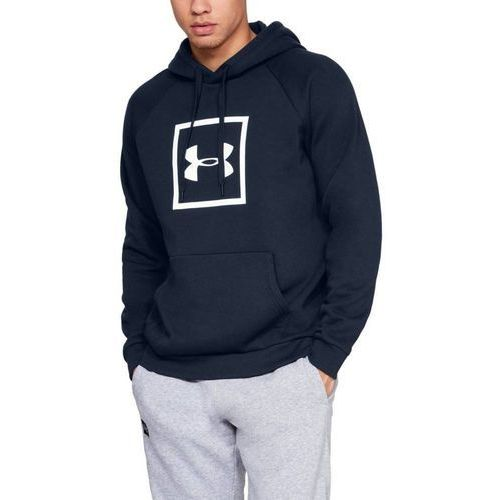 Under Armour Bluza RIVAL FLEECE LOGO HOODIE Granatowe - Granatowy