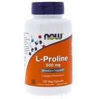 Kapsułki Now Foods L-Proline (L-Prolina) 500 mg - 120 kapsułek