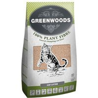 Greenwoods plant fibre, żwirek roślinny zbrylający się - 30 l (ok. 12,9 kg)