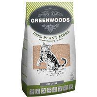 Greenwoods Plant Fibre, żwirek roślinny zbrylający się - 8 l (ok, 3,4 kg) (4260358511023)
