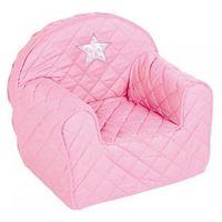 Klupś Różowy fotelik - pufa z oparciem -