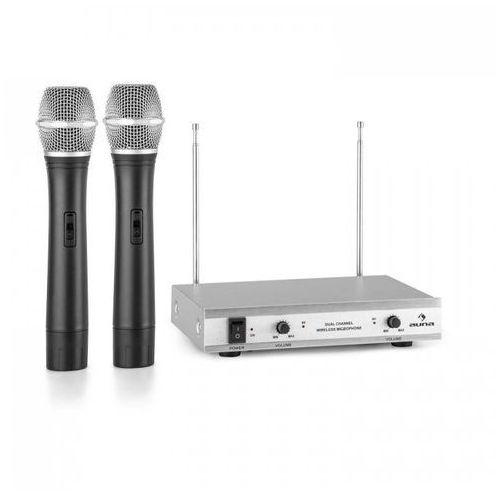 Vhf-2-h 2-kanałowy radiowy zestaw mikrofonowy vhf 2x mikrofon ręczny zasięg marki Auna