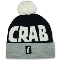 czapka zimowa CRAB GRAB - Pom Beanie Grey Black White (GRY)