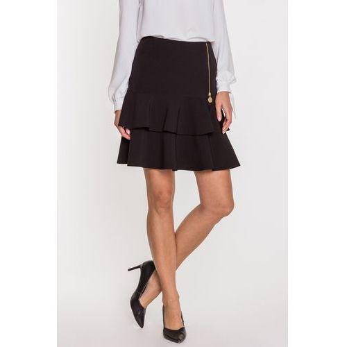 f6fd182474d86a L'ame de Femme Czarna spódnica z falbanami Anita - L'ame de Femme,  kolor czarny