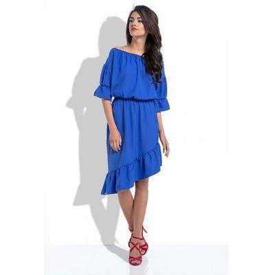4c30e152e1 suknie sukienki chabrowa sukienka z plisowanym dolem chabrowe ...